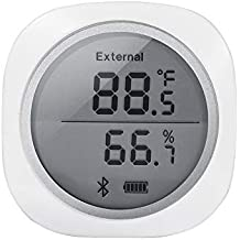 Inkbird Wireless Bluetooth Temperature and Humidity monitor Thermometer & Hygrometer for Android & IOS Phone Used for Brewing Meat/Plant/Cigar Storage (IBS-TH1 Plus)