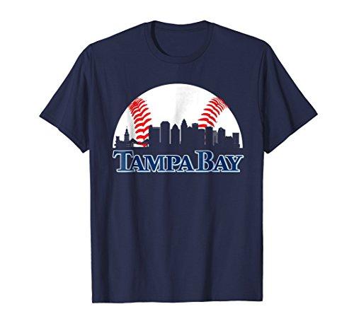 Bay Green Rays Tampa (Tampa Bay Baseball Downtown Skyline Fan T-Shirt)