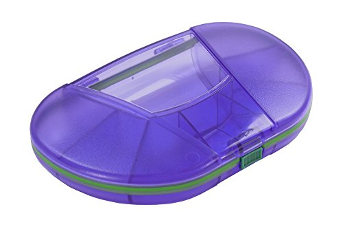 Gasketed Vitacarry 8 Compartment Pill Box Holds up to 150 Pills Waterproof (Purple)
