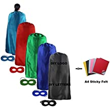 Ranavy Diy Hero Capes Adult Bulk Pack For Superhero Party Costumes Set of 5 Unisex