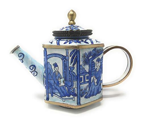 Kelvin Chen Enameled Miniature Tea Pot - Blue & White