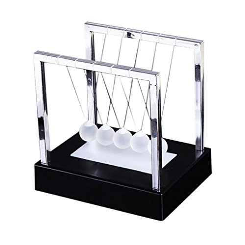 Price comparison product image Littleice Newtons Cradle LED Light Up Kinetic Energy Home Office Science Toys Home Decor (Black)