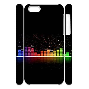 Cell phone 3D Bumper Plastic Case Of Music For iPhone 5C