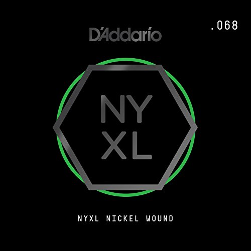 D'Addario NYXL Nickel Wound Electric Guitar Single String, .068 ()