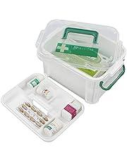 Hokky Apteczka pierwszej pomocy, pudełko do przechowywania medycyny, pudełko na lekarstwa z tworzywa sztucznego