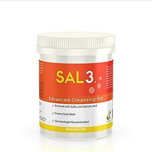 SAL3 Dandruff Shampoo & Scalp Acne, Therapeutic, Flaky Scalp Build-up Control, Smelly Hair, Maximum Strength Bar Format - 3% Salicylic Acid & 10% Sulfur