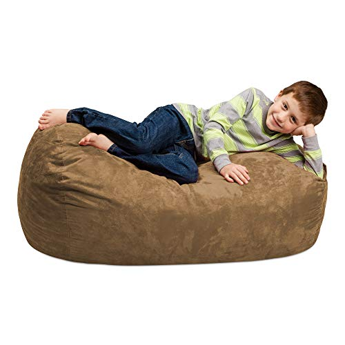 - Chill Sack Bean Bag Chair: Large 4' Memory Foam Furniture Bag and Large Lounger - Big Sofa with Soft Micro Fiber Cover - Earth