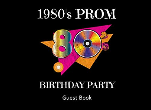 1980's Prom Birthday Party Guest Book