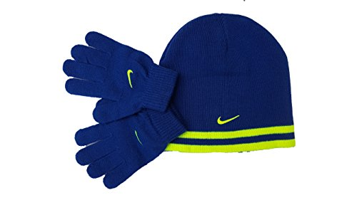 Price comparison product image Nike Reversible Beanie and Glove Set Boys 8/20 Gym Blue