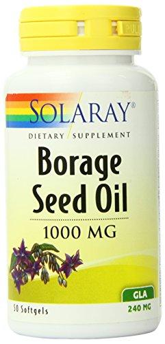 Solaray Borage Seed Oil GLA Capsules, 240 mg, 50 Count