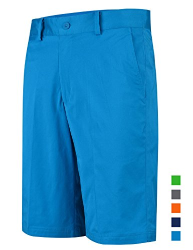 Chino Golf - Lesmart Men's Golf Shorts Tech Chino Relaxed Fit Cool Quick Dry Fit Size 44 Royal Blue