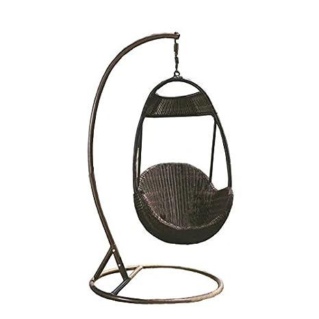 Imitación bambú - rota mimbre de hamaca / columpio / silla colgante / trapecio / longue / asiento: Amazon.es: Jardín
