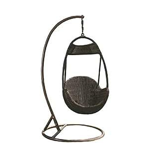 Imitaci n bamb rota mimbre de hamaca columpio silla for Amazon hamacas jardin