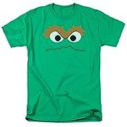Sesame Street Oscar Face Adult Mens Graphic Tee Funny T-Shirt
