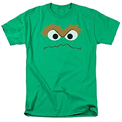 Sesame Street Oscar Face Adult Mens Graphic Tee Funny T-Shirt
