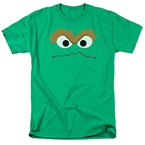 Sesame Street Oscar Face Adult Mens Graphic Tee Funny T-Shirt (Large) from Trevco