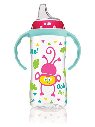 NUK Large Learner Cup, Pink Jungle Designs, 10oz ()