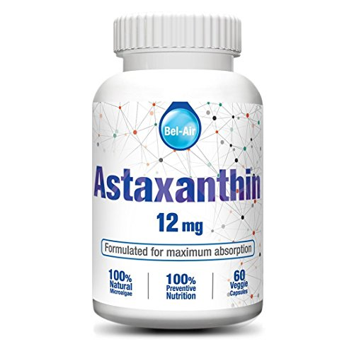 Bel-Air Astaxanthin (12mg) with herbal catalysts. Nature's best antioxidant for healthy joint, skin & vision, made to be more effective.