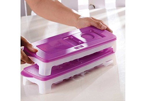 Tupperware Fresh & Pure Ice Tray Purple Set of -