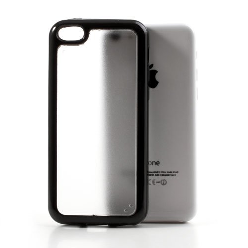 iProtect TPU Schutzhülle iPhone 5c Case (harte Rückseite) matt schwarz