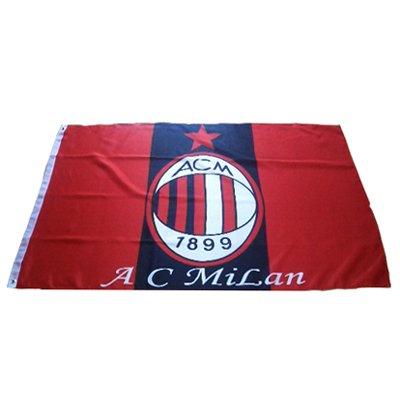 AC Milan FC Football Soccer Club Flag 3x5 Feet SHIP FROM CANADA ()