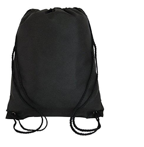 SHOPINUSA Pack of 50, Drawstring Backpack Bags Wholesale Bulk Price - Non-Woven Durable Promotional Sport Gym Sack Cinch Bags 13.5