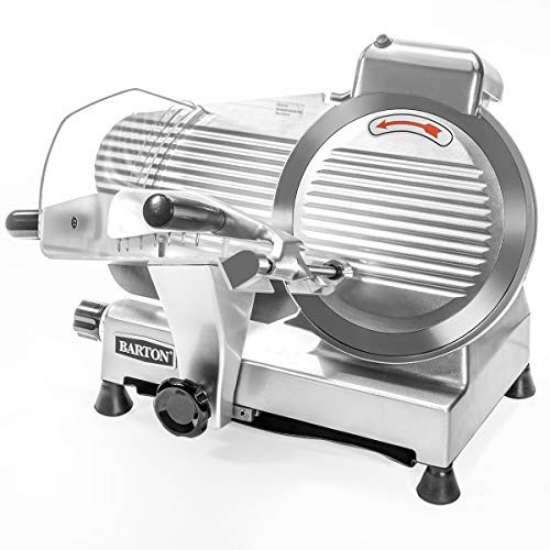 Barton Commercial Stainless Steel Semi-Auto Meat Slicer Cheese Food Electric Deli Slicer Veggies Cutter 10″ inch Blade