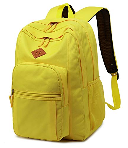 Abshoo Classical Basic Womens Travel Backpack For College Men Water Resistant Bookbag (Yellow)