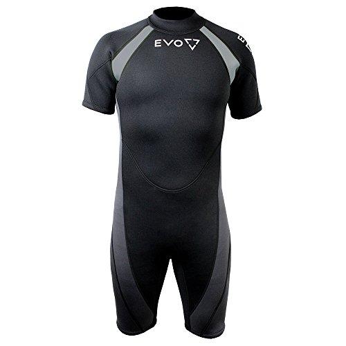 EVO 3mm Super-stretch Shorty Wetsuit (men's) 2XL Black by EVO