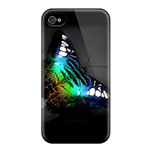 Excellent Hard Phone Case For Iphone 4/4s (LMN12647HeJT) Customized High Resolution Butterfly Skin