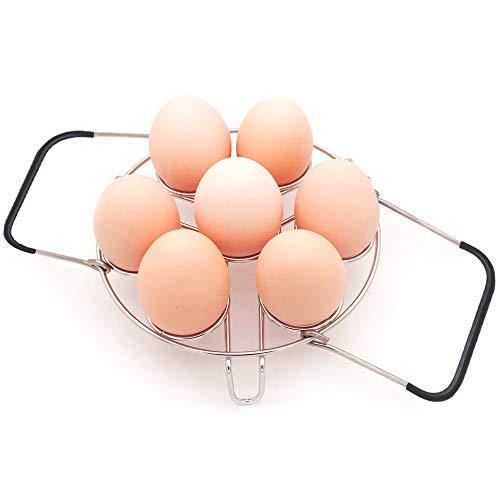 WaterLuu IP Accessories, Egg Steamer Trivet with Handles for Pressure Cooker Accessories, Instant Pot 3 Quart Accessories, Instant Pot 3 Quart Egg Steamer Rack, Fit 3 Quart Instant Pot.