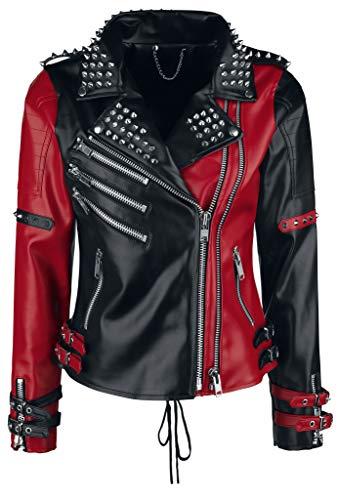 (Heartless Women's Asylum Biker Jacket - Small, (Black/Red))