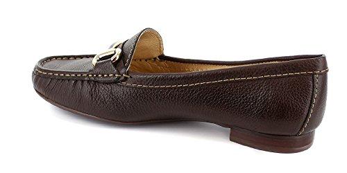 Frauen Echtes Leder Made In Brasilien Grand Street Schnalle Loafer Marc Joseph NY Mode Schuhe Braun körnig