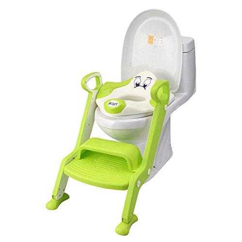 ZZ Plegable baño de asiento de niño, escala auxiliar asiento, asiento, escape inodoro, libre, sentado en la escalera de...