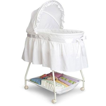 Delta Children's Products Sweet Beginnings Bassinet, White (Delta Children Sweet Beginnings)