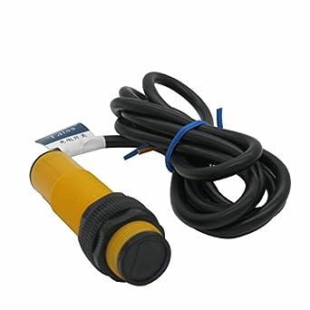 taiss/2pcs interruptor de proximidad e3 F-ds10b2 M18 difusa Reflexión interruptor fotoeléctrico Sensor óptico Sensor DC tres líneas NPN NC 10 cm 6 - 36 VDC: ...