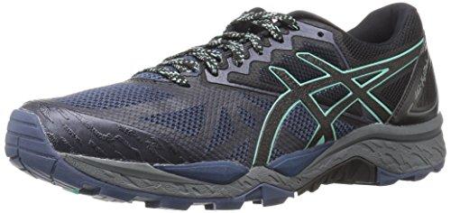 ASICS Womens Gel-Fujitrabuco 6 Running Shoe, Insignia Blue/Black/Ice Green, 8 Medium US