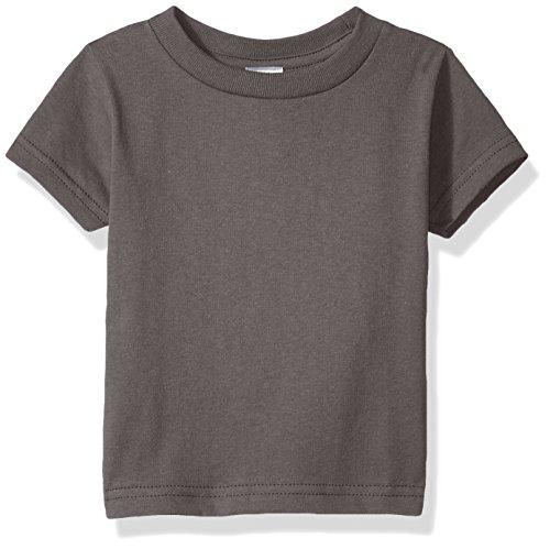 T-shirt Ash Infant - Clementine Baby Infant Soft Cotton Jersey T-Shirt, Charcoal 12MOS