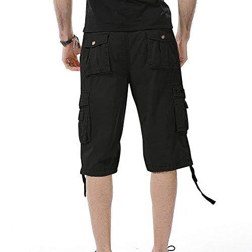 Garçons Extérieur Shorts Unicolore Cargo Travail Vêtements Fête Schwarz De Mode D'été Pantalon Hommes Surdimensionné Bermudas Demi Sport Court Hqn8wqRUA