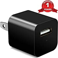 Hidden Spy Camera 32GB included - 1080P HD USB Wall Charger Hidden Spy Camera / Nanny Spy Camera Adapter - can Charge Phones - Premium Set from Alpha Tech [Updated Version]