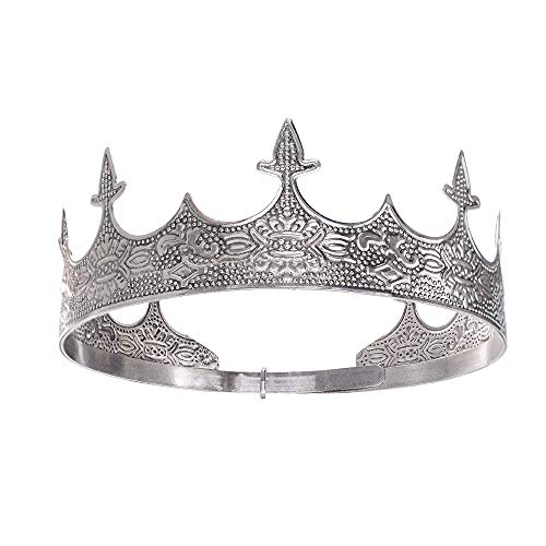 S SNUOY King Crown for Man Full Antique