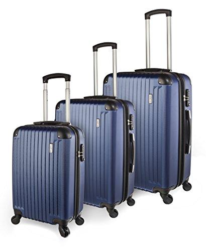 [TravelCross Columbia Luggage 3 Piece Lightweight Spinner Set - Dark Blue] (20