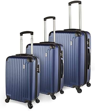 TravelCross Columbia Luggage 3 Piece Lightweight Spinner Set