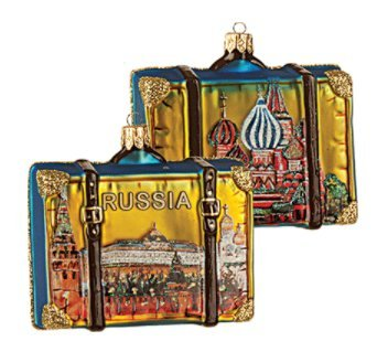 Basil's Cathedral Kremlin Palace Moscow Bell Tower Polish Glass Christmas Ornament Travel Souvenir Decoration (Christmas Ornaments Russia)