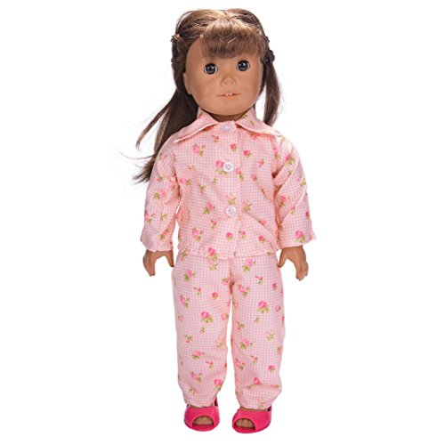 Iusun Cute Pajamas Nightgown Clothes for 18 inch Our Generation American Girl Doll (D)