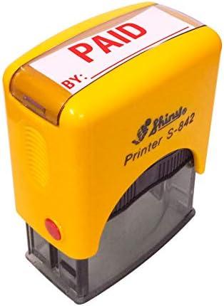 IMPACT2PRINT Glanzende 842 Zelf het Inken Betaald door Tekst Rubber Stempel Zakelijke Aangepaste Stamp Office Stationary