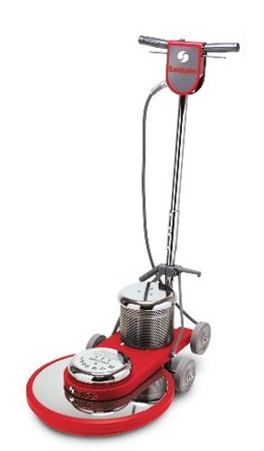 Sanitaire SC6045B Commercial High Speed Floor Cleaner Machine with Chrome Plated Steel Housings and 1.5 HP Motor, 20