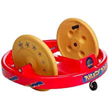 Krazy Kar Spinning Ride-On Big Wheel Classic By Amloid I Retro, Fun & Durable Children's Spinning Riding Cart