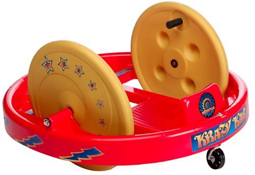 Krazy Kar Spinning Ride-On Big Wheel Classic By Amloid I Retro, Fun & Durable Childrens Spinning Riding Cart