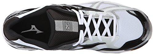 Mizuno WH Wave White BK Volleyball Mens Bolt Shoe Mens 4 Black aqSar7x